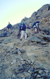 Afdaling in Fishriver canyon 1